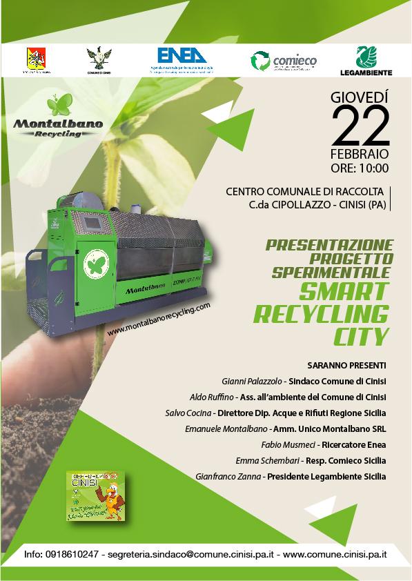 """Inaugurazione Progetto Sperimentale """"Smart Recycling City"""""""